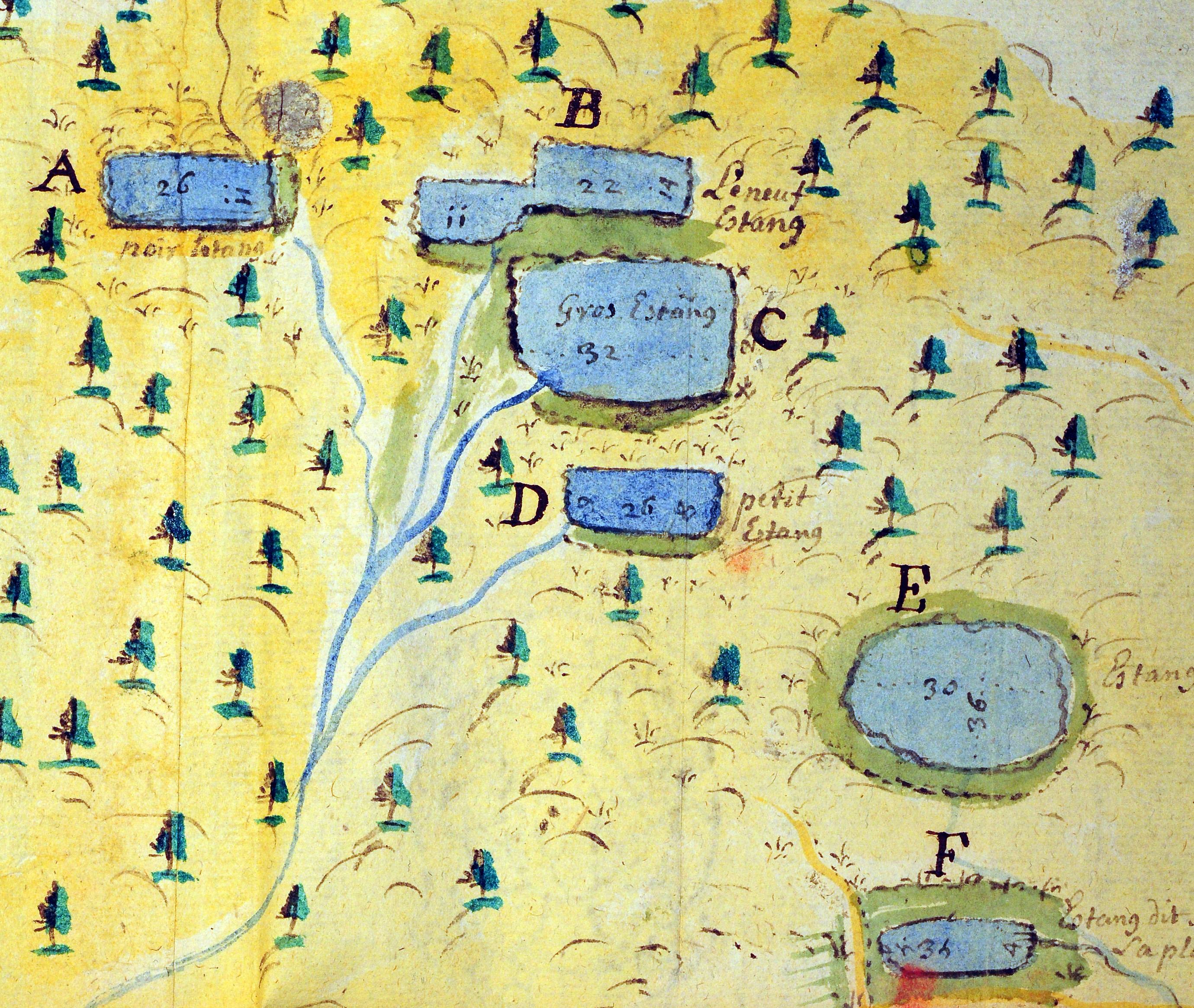 étangs 1765