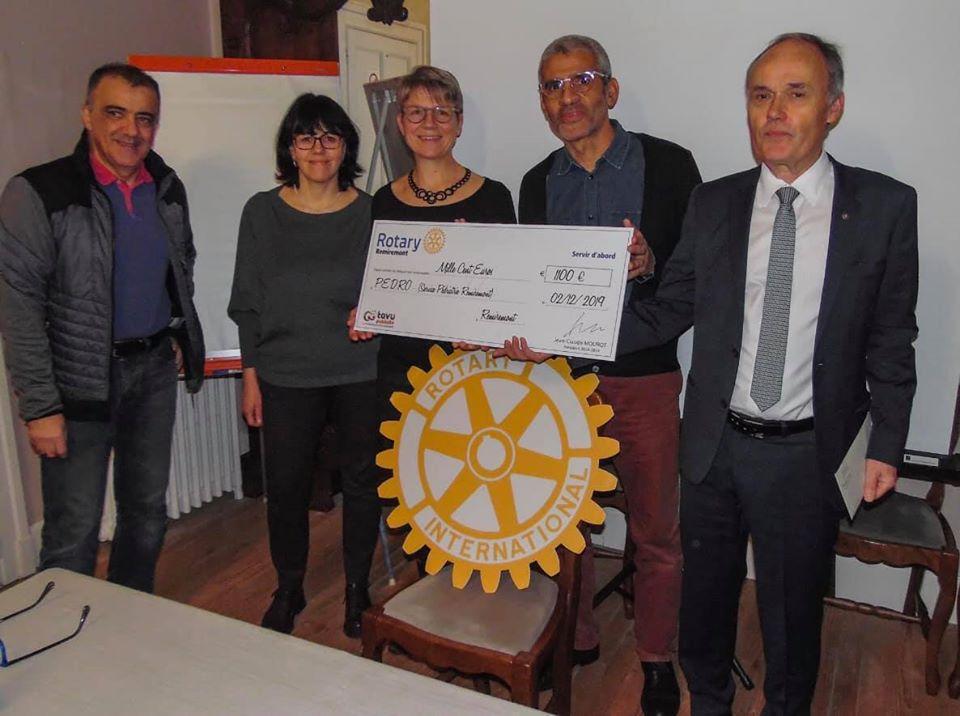 Photo de la page Facebook du Rotary Remiremont