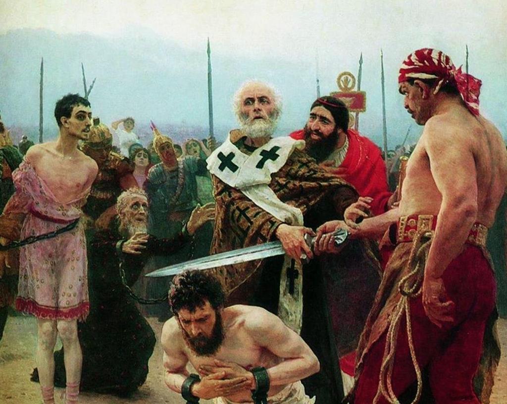 Saint Nicolas arrêtant le bourreau, Ilia Répine, 1888