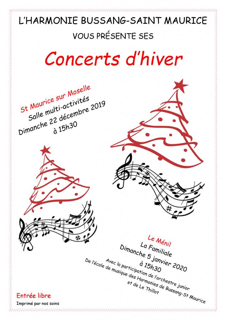 concert hiver harmonie bussang