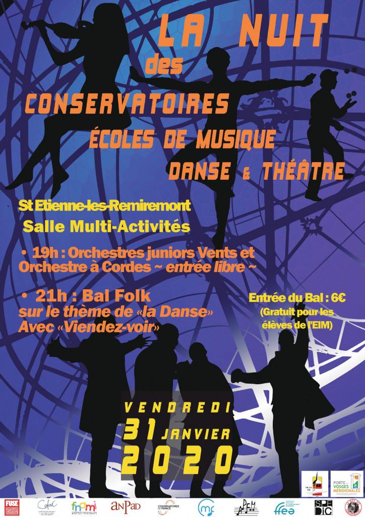 affiche nuit conservatoires 2020