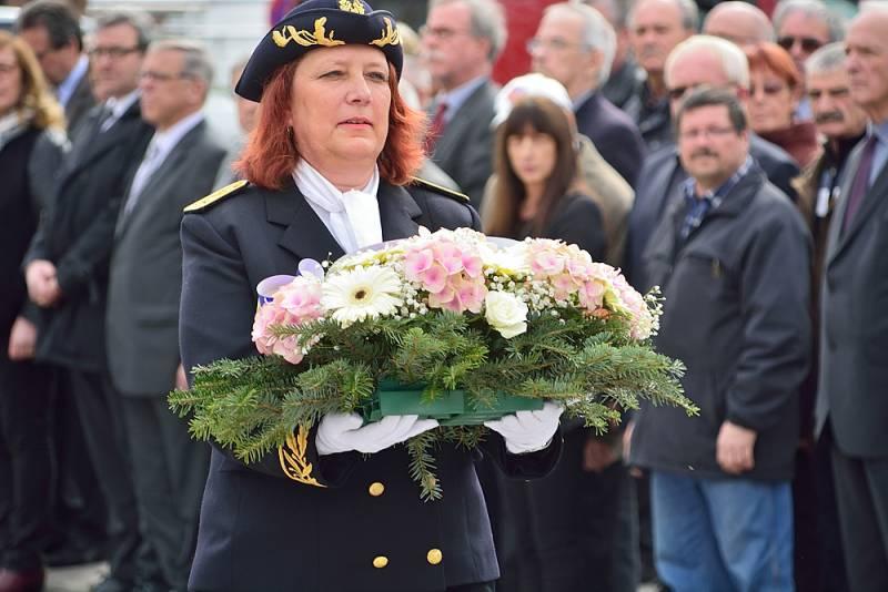 Sylvie Siffermann lors de sa prise de fonction à Saint-Dié-des-Vosges. (Photographie d'archives)