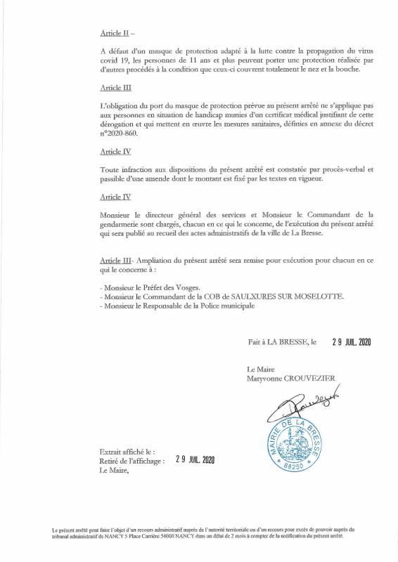 2020-07 Arrêté municipal Port du masque obligatoire-page-002