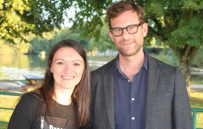 Les marraine et parrain du Téléthon Vosges 2021 : Laëtitia Reynders et Nicolas Mathieu