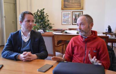 Le Maire Jean-Benoït Tisserand a accueilli Alain Berguer pour présneter l'édition 2021